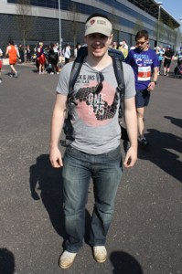 Marathon supporter