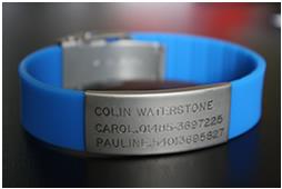 Wrist ID bracelet