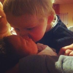 Jenson kissing Isla