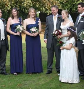 Amanda bridal party