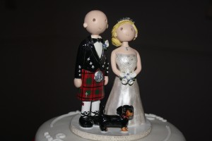 Stew and Julie cake topper