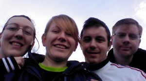Vick, Me, Dan and Alex pre Parkrun