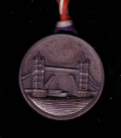 1982 London marathon medal