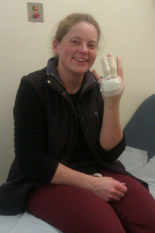 Jenny in hospital