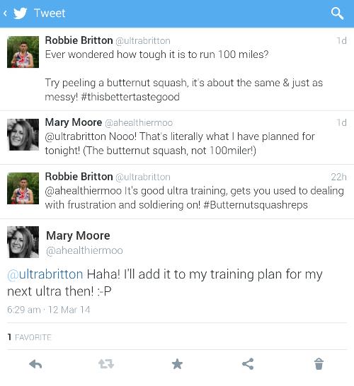 Robbie Britton ultramarathon butternut squash