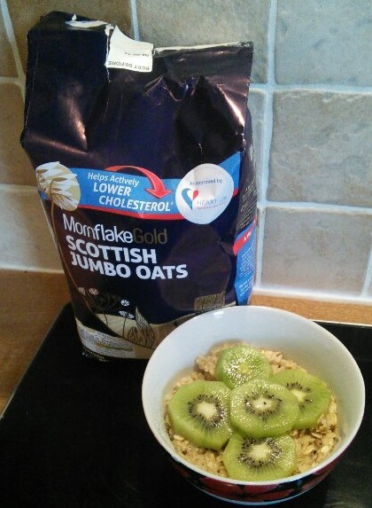Mornflake oats and kiwi