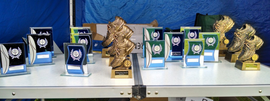 Northampton Running Festival trophies