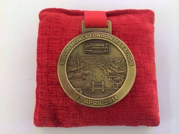 London marathon medal 2014