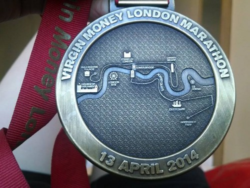 London marathon medal VLM