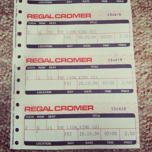 Lion King at Cromer Cinema