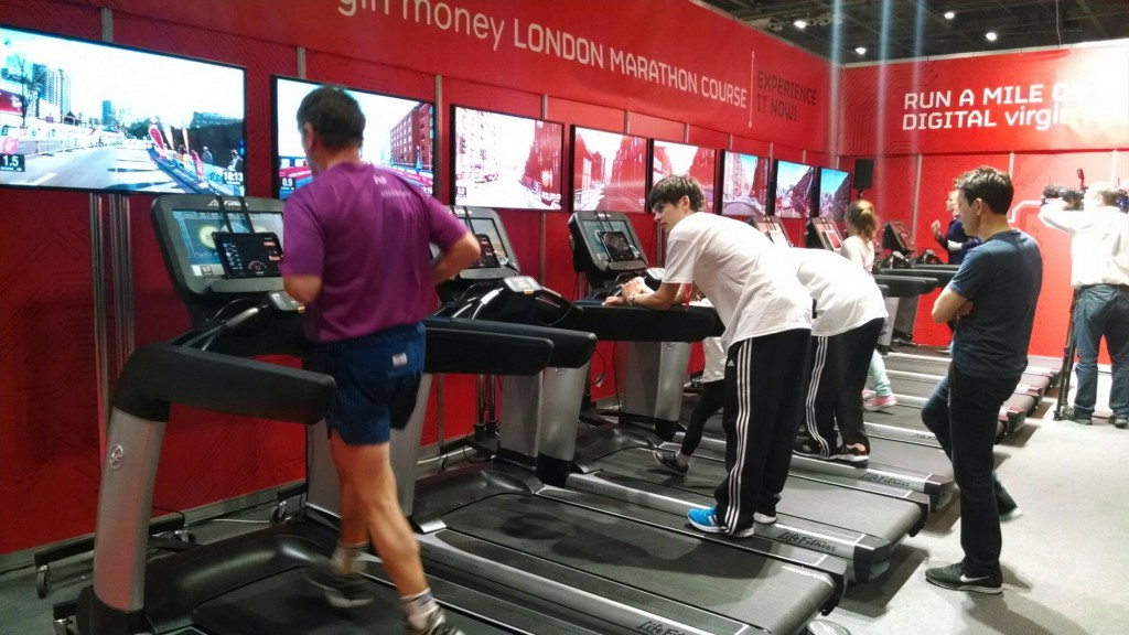 London marathon treadmill