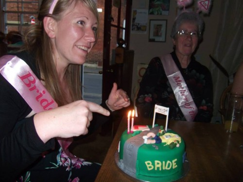 My hen do - cake