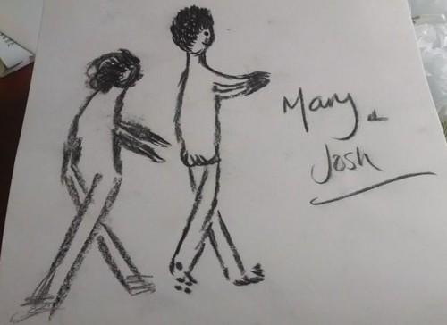 My hen do - me chasing Josh