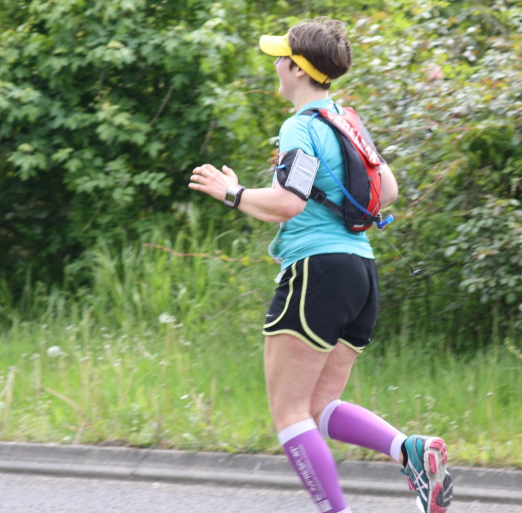 Lauren at Milton Keynes marathon