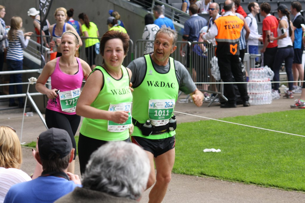 Hayley and Kev at Milton Keynes marathon