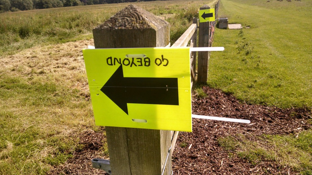 Coombe Abbey Go Beyond marshal signs