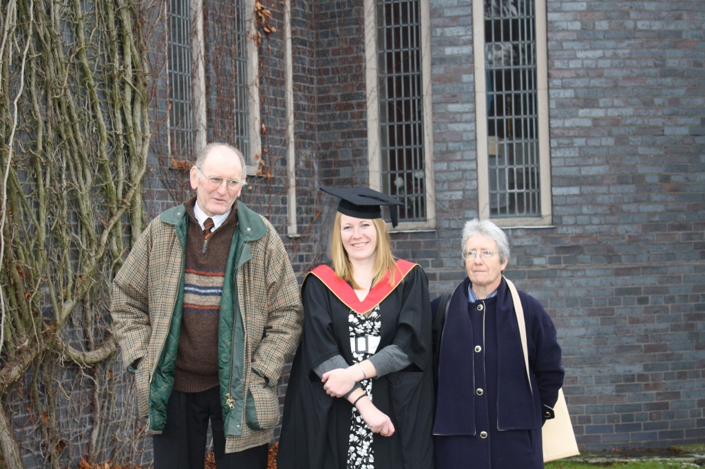 Graduation from Keele University with Dad and Mum
