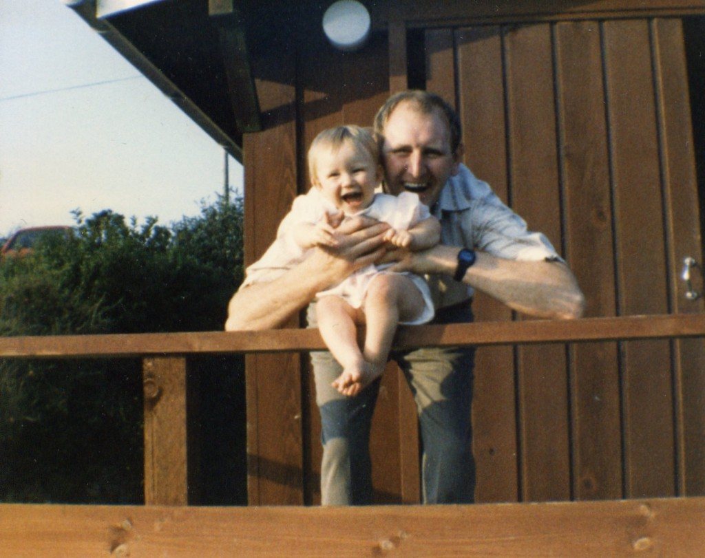 Dad and I on holiday in Wales