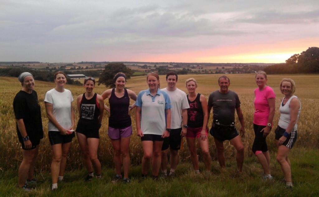 Trail run in Northamptonshire with club
