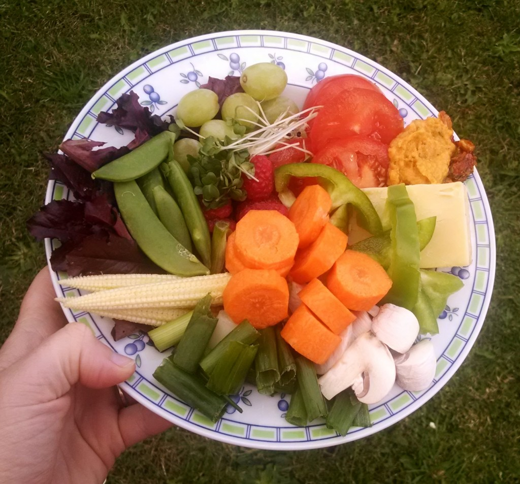Colourful salad dish