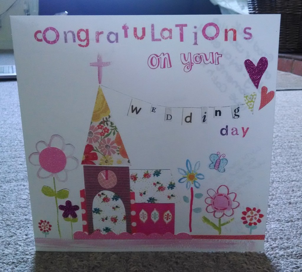 Wedding card from the teaching staff