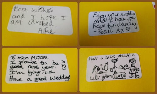 Wedding messages from the kids