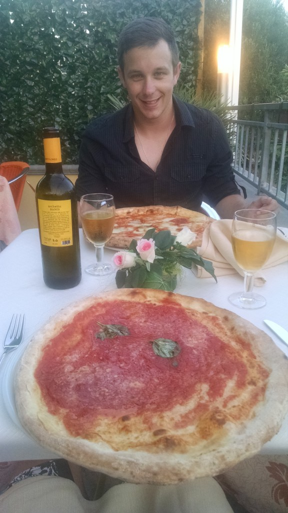 Pizza in South Italy on honeymoon