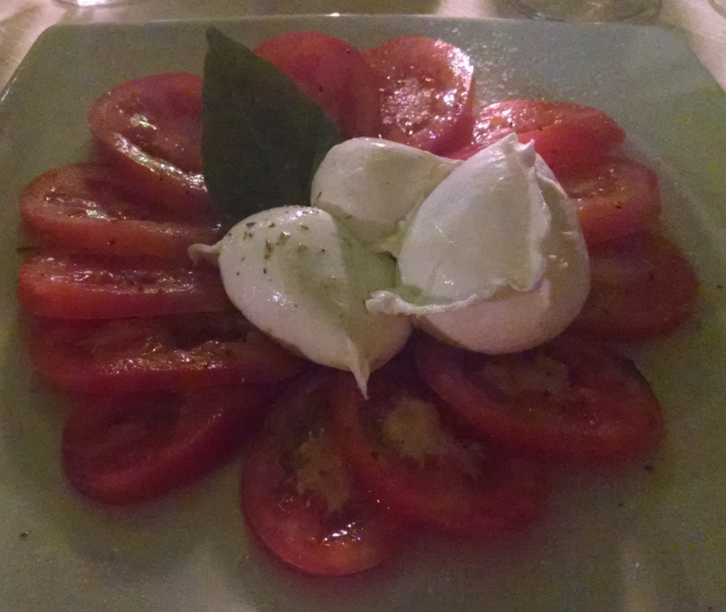 Caprese in South Italy on honeymoon