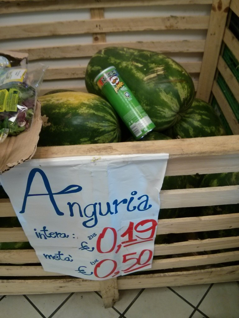 Watermelon in South Italy on honeymoon
