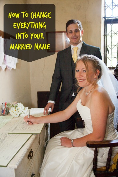 How to change everything into your married name