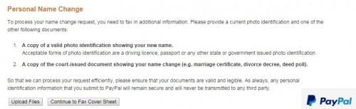 PayPal name change