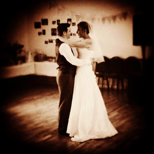 Our first dance at our wedding