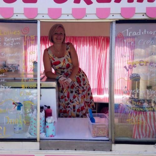 Nic in her icecream van