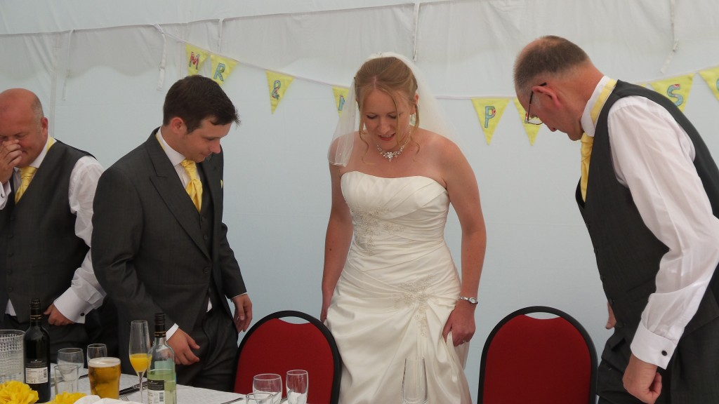 Dad, Dan and I at the top table