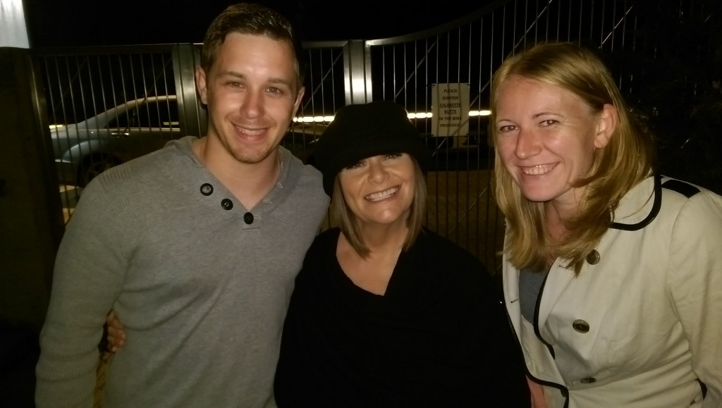 Dawn French with Dan and I in Milton Keynes