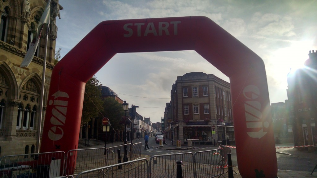 Start line at Northampton Half marathon
