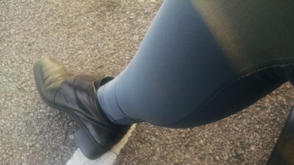 Rocking the boots and lycra