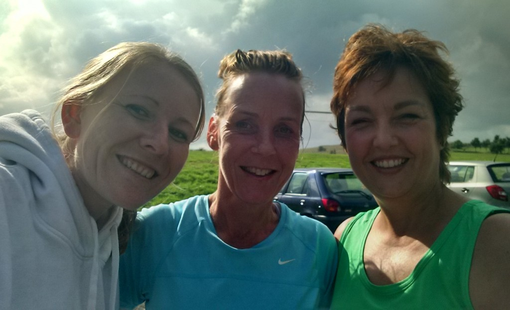 Me, Hayley and June at Royston half marathon