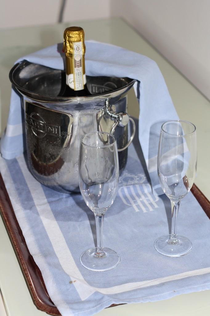 Champagne on honeymoon