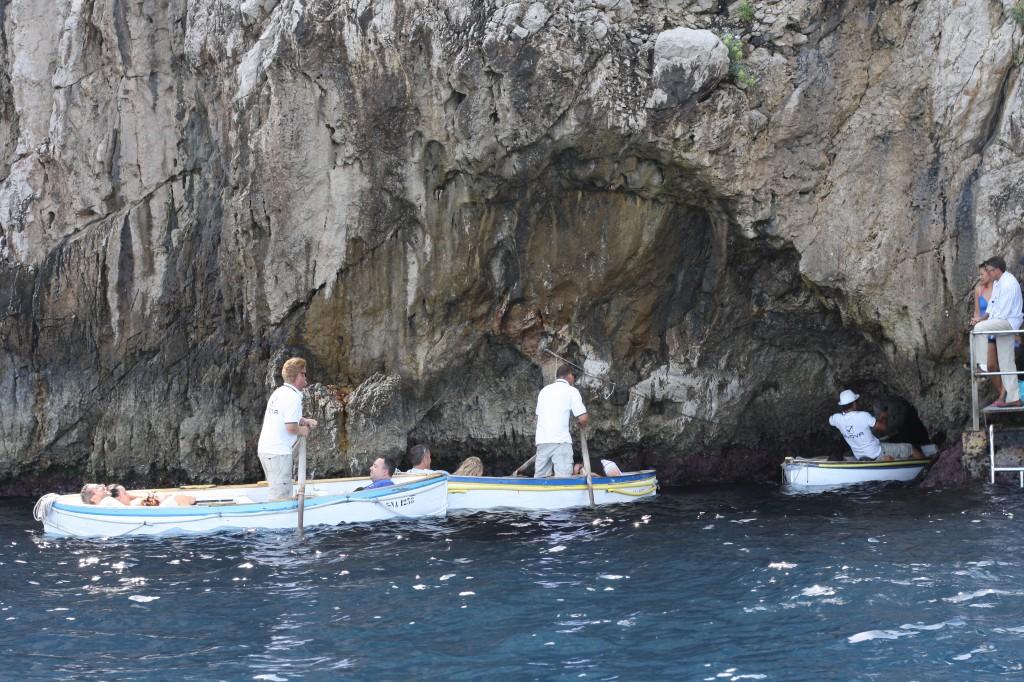 Blue caves in Capri