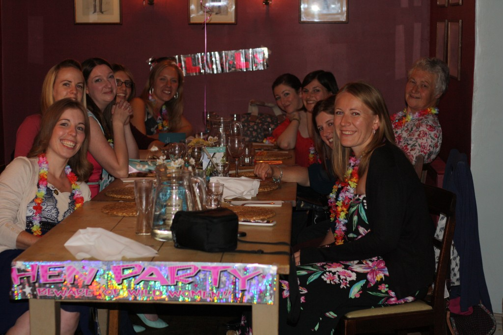 Zoe's hen do at The Dabbling Duck