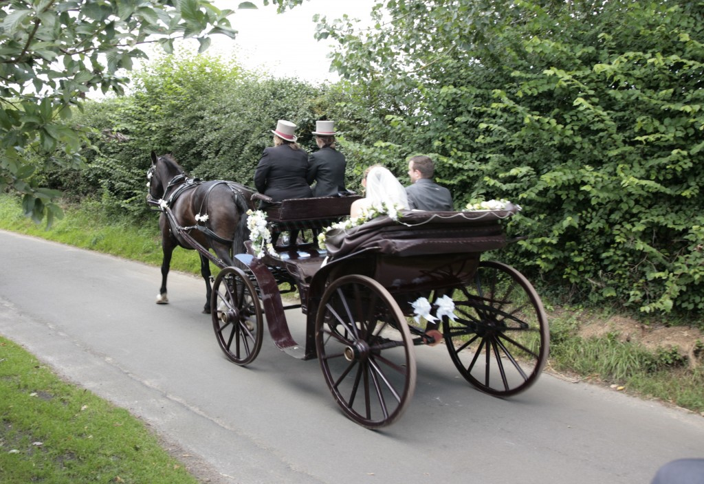 Off in our horse and carriage