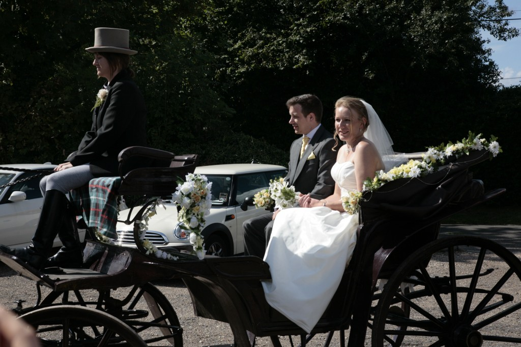 Arriving in the horse and carriage