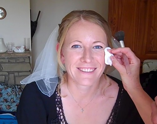 Getting my wedding makeup done