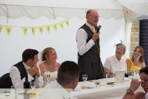 Dad giving his wedding speech