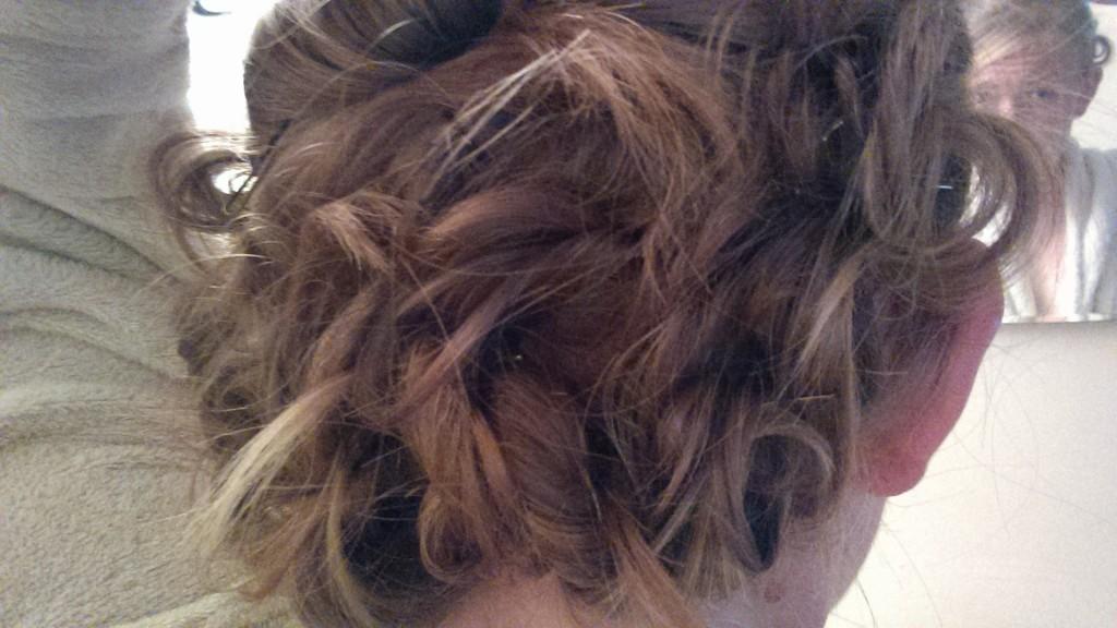 Hair for Zo's wedding