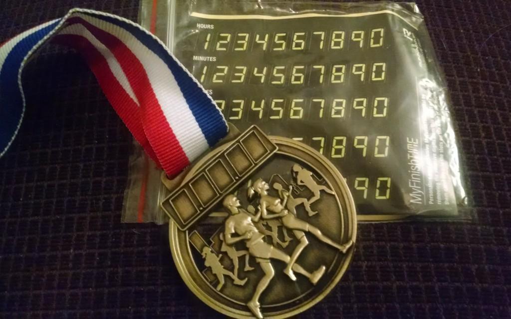 Mablethorpe Marathon medal