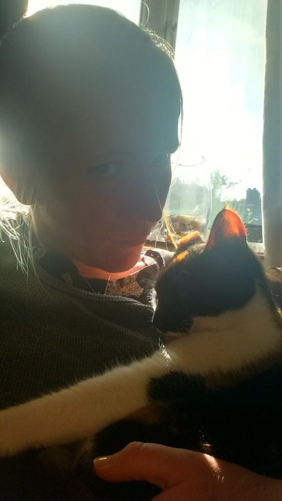 Me cuddling Bella