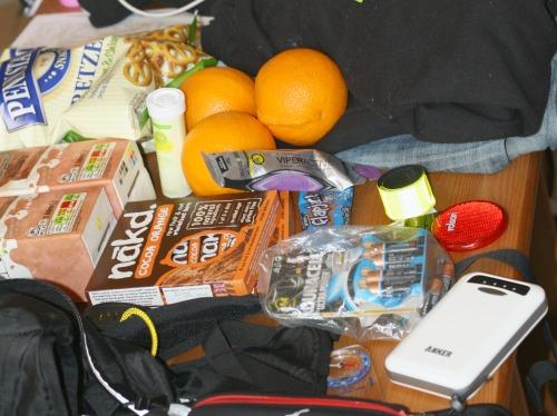 Kit for Dusk 'til Dawn 50mile ultramarathon