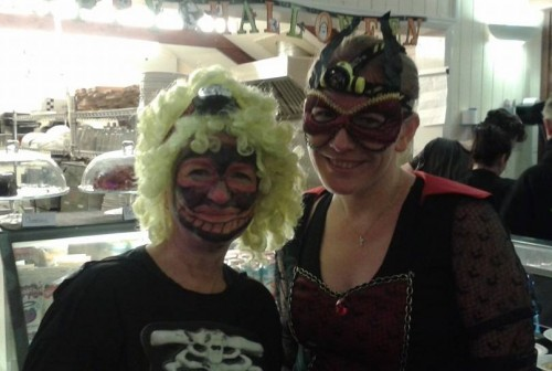 Mandy and I at the Halloween club run